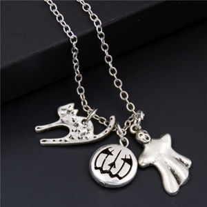 Jewelry - Silver Halloween Charm Necklace